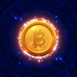 Bitcoins i Nowy Wirtualny pieniądze pojęcie fotografia stock