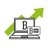 Bitcoins investment business icons. Vector illustration design Royalty Free Stock Images
