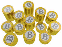 Bitcoins isolated Stock Photography