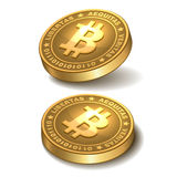 Bitcoins isolated on white Royalty Free Stock Photos