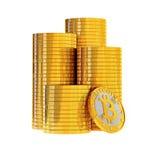 Bitcoins - isolated on white Stock Photo