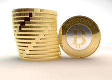Bitcoins Royalty Free Stock Photo