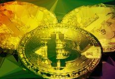 Bitcoins macro big round mesh