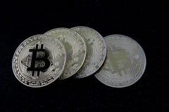 Bitcoins - moedas do cryptocurrency Fotografia de Stock