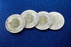 Bitcoins - moedas do cryptocurrency Fotografia de Stock Royalty Free