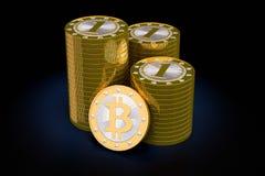 Bitcoins Royalty Free Stock Photos