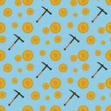 Bitcoins naadloos patroon Royalty-vrije Stock Foto's