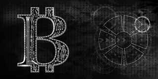 Bitcoins radar Royalty Illustrazione gratis
