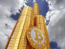 Bitcoins `Skyscraper` - 3D Rendering Stock Image