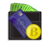 Bitcoinsconcept het delen beweging Royalty-vrije Stock Fotografie