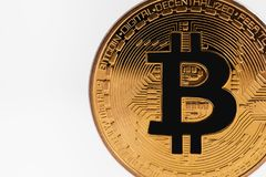 bitcoinsymbol Royaltyfria Bilder