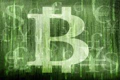 Bitcoinsymbool en andere munten Stock Afbeelding