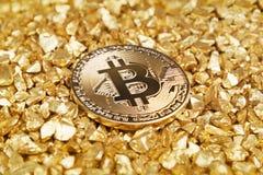 Bitcoinwaarde stock afbeeldingen