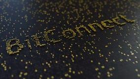 BitConnect-Wort gemacht von den goldenen Zahlen Wiedergabe 3d Lizenzfreie Stockfotos