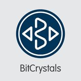 Bitcrystals - Cryptographic Currency Symbol. Stock Photos