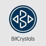 Bitcrystals - Cryptographic valutasymbol Arkivfoton