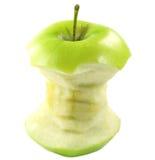 Bite Apple. Over white background Stock Images