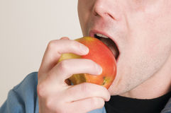 Bite in the apple Royalty Free Stock Photos
