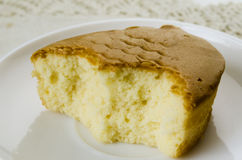 Bite butter cake Royalty Free Stock Images