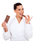 Bite of chocolate Royalty Free Stock Images