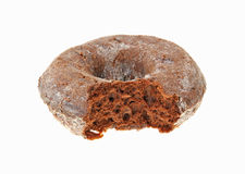 Bite Chocolate Donut Up Close Royalty Free Stock Photos