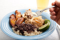 Bite of Cuban Roast Pork Royalty Free Stock Photos