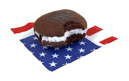 Whoopie Pie Patriotic Napkin Royalty Free Stock Photo