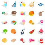 Bite icons set, isometric style Royalty Free Stock Photography