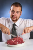 Bite Meat Royalty Free Stock Image