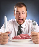Bite meat Stock Images