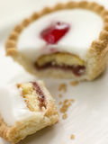 Bite Of A Cherry Bakewell Tart Stock Image