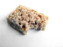 Bite out of a Cookie. Bite out of a Rice Crisby Cookie stock images
