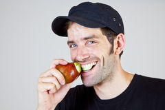 Bite into a pear 3 Stock Images