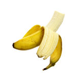 Bite Peeled Ripe Banana Stock Photos