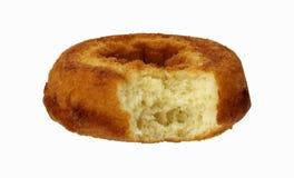Bite of Plain Donut Stock Photography