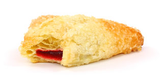 Bite Raspberry Danish Stock Image