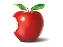 Bite red apple Royalty Free Stock Image