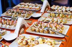 Bite-size appetizers Stock Image