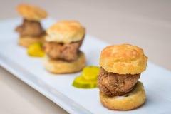Bite Size Chicken Biscuits Stock Photo