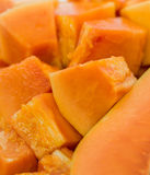 Bite Size Papaya Fruit II Royalty Free Stock Photos
