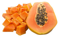 Bite Size Papaya Fruit VI Royalty Free Stock Photo