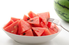 Bite sized cut watermelon Stock Images