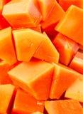 Bite Sized Papaya Fruit Close Up View II Royalty Free Stock Images