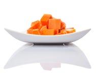 Bite Sized Papaya Fruit In Plate VIII Stock Image