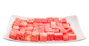 Bite Sized Watermelon I Stock Images