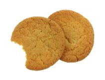 Bite of Sugar Cookie. A bite of a delicious soft chewy sugar cookie Royalty Free Stock Image