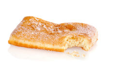 Bite from a sugar donut Stock Photography