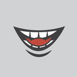 Bite Tongue. Mouth biting onto tongue Royalty Free Stock Photo