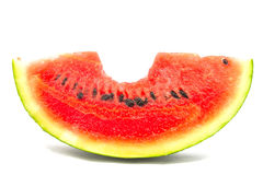 Bite watermelon Stock Image