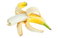Bited banana Stock Image